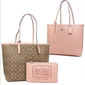 Coach Signature PVC Reversible City Tote